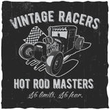 Vintage Racers Poster Royalty Free Stock Photo