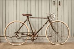 Vintage racing bicycle in an old factory Royalty Free Stock Photo