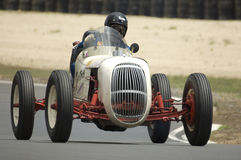 Vintage Racing Car. 1940's classic racing car on the race track at the Hampton Downs Festival of Motor Sport Stock Photo
