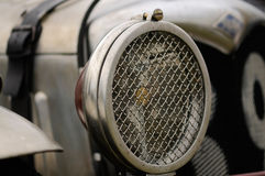 Vintage racing car. Detail of a vintage racing car Stock Photography