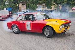 Vintage racing car Alfa romeo GTV 2000 Stock Photography