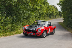 Vintage racing car Fiat 124 Abarth (1973) Royalty Free Stock Image
