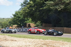 Vintage Racing Cars Royalty Free Stock Photo