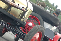 Vintage racing cars. Vintage race cars ready to go racing with racing drivers Stock Photography