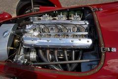 Vintage racing engine. Six cylinder Italian racing engine of the forties stock photo