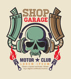 Vintage racing insignia graphics. Illustrator and Stock Images