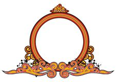 Vintage radial frame. With with decorative scrollwork Stock Photography