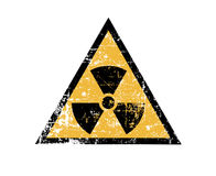 Vintage radiation sign Stock Photo