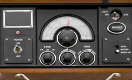 Vintage radio. Control panel of a vintage radio Stock Photography