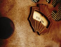 Vintage radio. Old grunge vintage radio close up Stock Photography