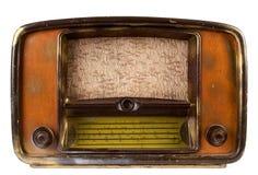 Vintage radio. Old vintage radio receiver on white background Royalty Free Stock Image