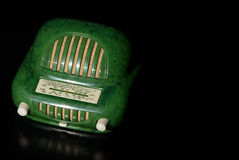 Vintage radio. Receiver with copy space on the right Royalty Free Stock Photo