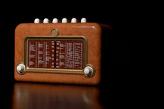 Vintage radio. Receiver with copy space on the right Stock Photography
