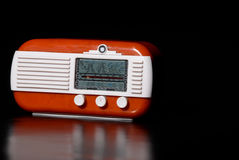 Vintage radio. Receiver with copyspace on the right Royalty Free Stock Photo