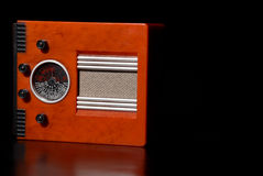 Vintage radio. Receiver with copyspace on the right Royalty Free Stock Image