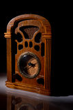 Vintage radio. Receiver of the 40s and its reflection Stock Images