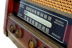 Vintage radio. Control panel of  the vintage radio Stock Photos