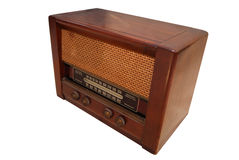 Vintage radio. Made from wood royalty free stock image