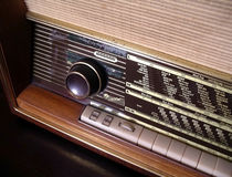 Vintage Radio. Detail of a vintage FM/AM stereo radio receiver Stock Photography