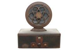 Vintage Radio. And speaker isolated on white background Stock Photos