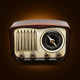 Vintage Radio. On a dark background Royalty Free Stock Images
