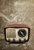 Vintage Radio. On a classic background Stock Photography