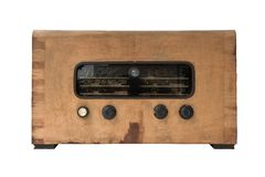 Vintage Radio. On a white background Stock Images