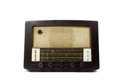 Vintage radio. In dark chocolate color Royalty Free Stock Photography