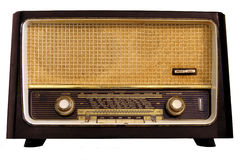 Vintage radio. Isolated on a white background Stock Photography