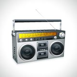 Vintage Radio. Vector illustration of vintage radio tape recoreder Royalty Free Stock Photo
