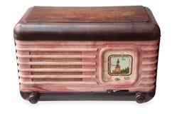 Vintage radio. With image of Kremlin Stock Photo