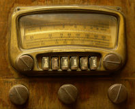 Vintage Radio. Closeup stock photo