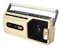 Vintage radio. Isolated on white background royalty free stock photos