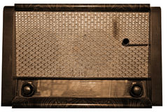 Vintage radio. A vintage radio in sepia Royalty Free Stock Images