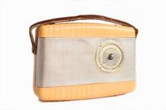 Vintage radio. Old vintage radio isolated on white Stock Images