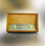 Vintage radio. An old antique Blaupunkt radio with FM and AM bands.  Tune in to the world Royalty Free Stock Images