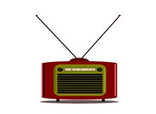 Vintage radio with antenna Royalty Free Stock Photography