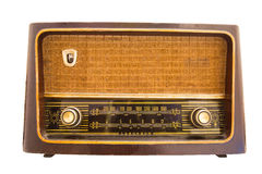 Vintage radio antique isolated Stock Photos