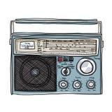 Vintage Radio Boombox Cute Art Illustration Stock Photos