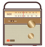 Vintage radio brown Stock Photography