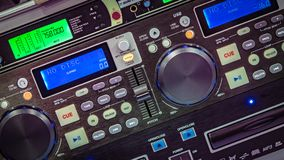 Vintage Radio Buttons Control Panel stock photo