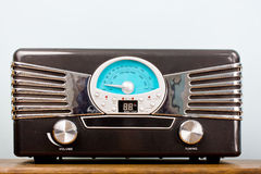 Vintage radio closeup Stock Image