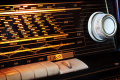 Vintage radio detail Stock Image