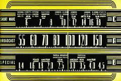 Vintage radio dial Stock Photography