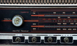 Vintage radio dial Stock Images