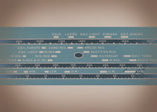 Vintage Radio Dial Background Stock Images