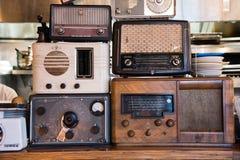 Vintage Radio display  Description: Vintage Ra Stock Photo