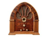 Vintage Radio_Front View Royalty Free Stock Images