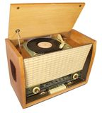 Vintage radio-gramophone Royalty Free Stock Images