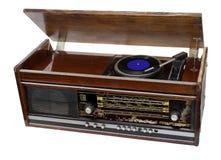 Vintage radio-gramophone Royalty Free Stock Image